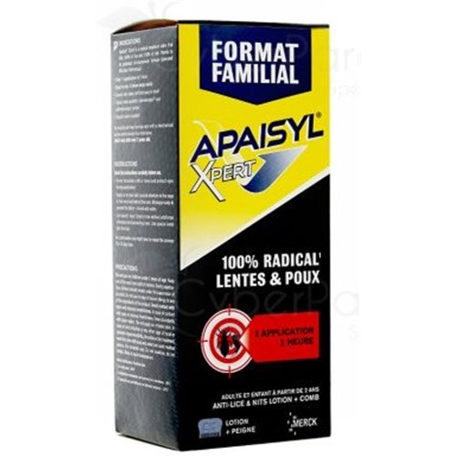 APAISYL XPERT, FAMILY FORMAT 100% Radical, anti-lice lotion, anti-slow. - 200 ml fl