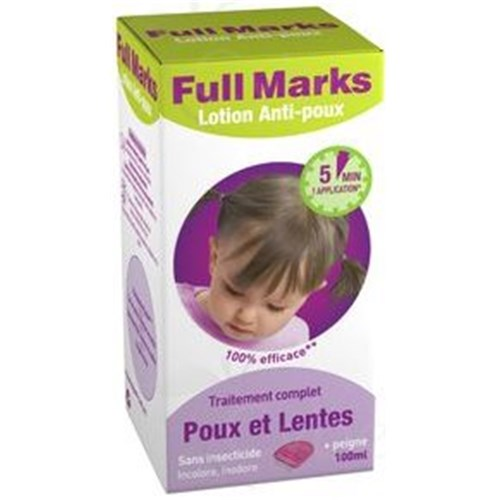FULL MARKS Anti-lice Lotion + comb, 100ml bottle