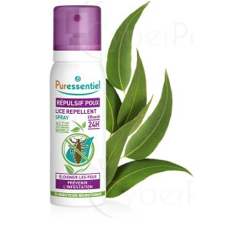 REPELLENT LICE, lice repellent spray with essential oils 100% natural. - Spray 75 ml
