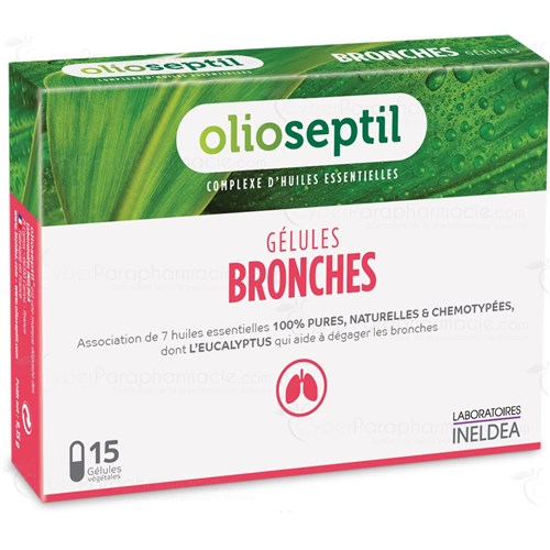 OLIOSEPTIL BRONCHI Capsule aromatherapy dietary supplement. - Bt 15