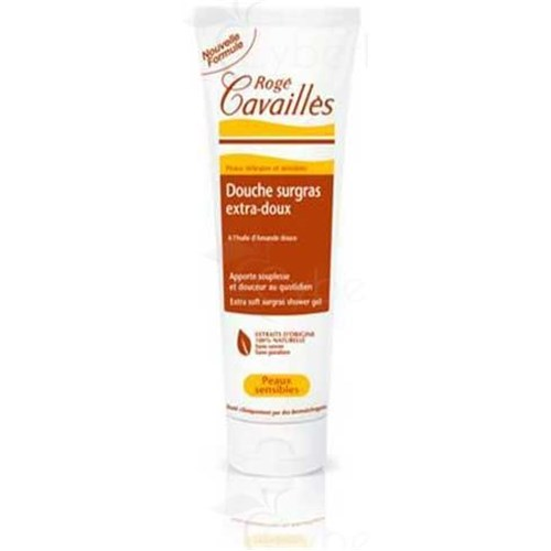 ROGÉ CAVAILLÈS SURGRAS extrasoft SHOWER, Shower Gel surgras extrasoft with sweet almond oil. - Tube 250 ml