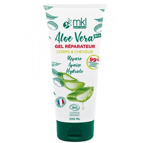 Aloe Vera Body and Hair Repair Gel 200ml - certified BIO