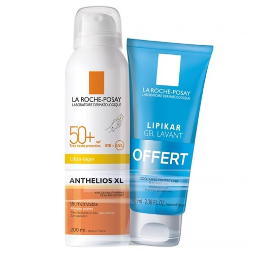 ANTHELIOS XL BRUME Invisible SPF50+ 200 ml + LIPIKAR GEL Lavant 100 ml OFFERT