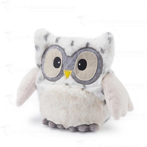Bouillotte peluche Blanc Hooty (micro-ondable)