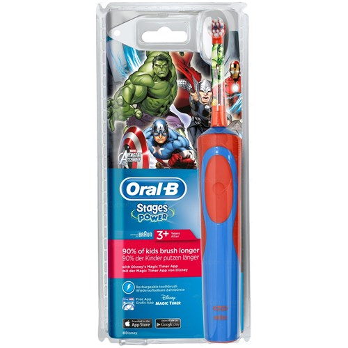 STAGES POWER SUPERS HEROS Brosse rechargeable 3 ans et plus