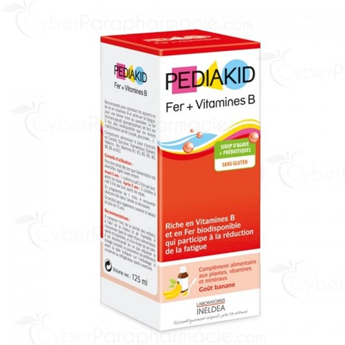 PEDIAKID IRON + VITAMINS B SYRUP TASTE BANANA 125ML
