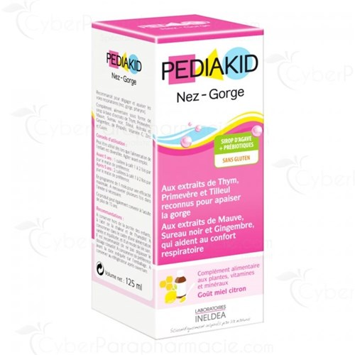 PEDIAKID NOSE-THROAT SIRUP HONEY-LEMON 125ML