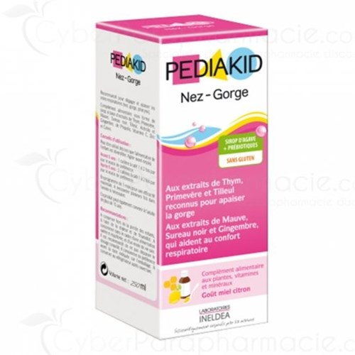 PEDIAKID NOSE-THROAT SIRUP HONEY-LEMON 250ml