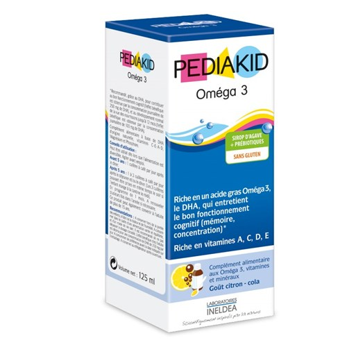 PEDIAKID OMEGA 3, Syrup, dietary supplement omega 3, vitamins and minerals. - Fl 125 ml