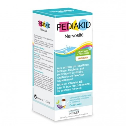 PEDIAKID nervousness, syrup, food supplement for plants, minerals and vitamins. - Fl 125 ml