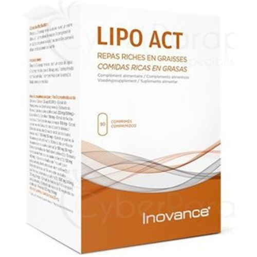 LIPO ACT, Weight Control Meals high in fat, 90 tablets