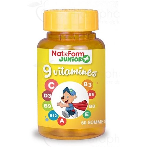 NAT & FORM JUNIOR + 9 vitamines 60 oursons