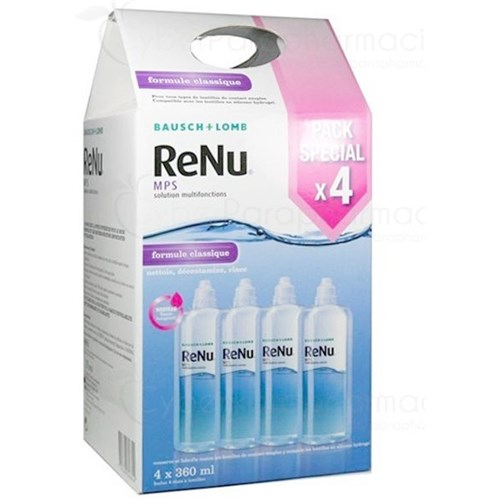 RENU MPS, multifunction solution for contact lenses. - Fl 360 ml, pack x 4
