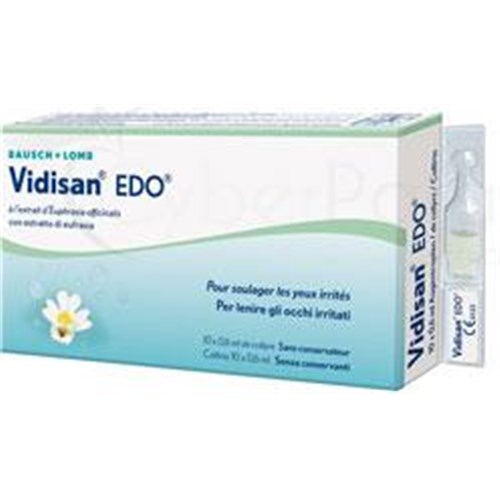 VIDISAN EDO, soothing ophthalmic solution for ocular administration, single dose. - Bt 10
