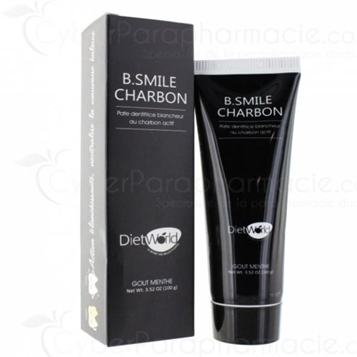 B SMILE CHARBON PATE DENTIFRICE BLANCHEUR GOUT MENTHE 100 g