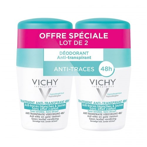 DEODORANT TRAITEMENT ANTI-TRANSPIRANT 48H 2X50ML ROLL-ON VICHY