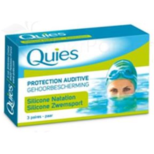 QUIES SILICONE earplug noise, special swimming Standard. - Bt 6