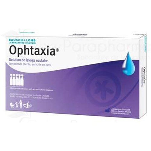 OPHTAXIA, ophthalmic solution for eye wash, single dose. - Bt 10