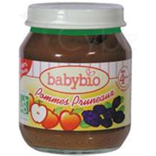 BABYBIO POTS SMALL FRUITS, Small jar of apple - prune. - 130 g pot
