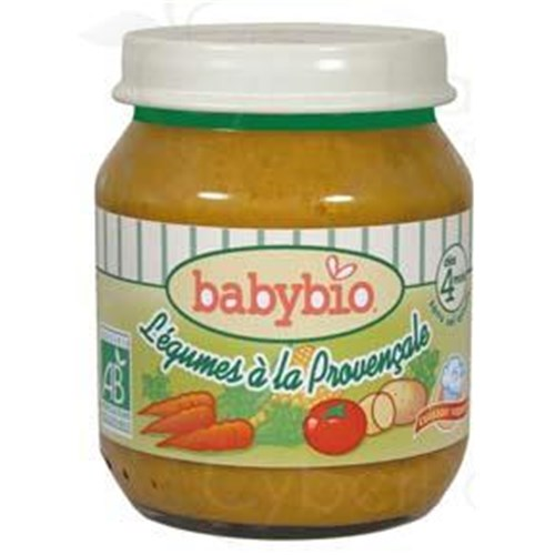 BABYBIO SMALL POTS VEGETABLES, Potty vegetables Provencal. - 130 g pot