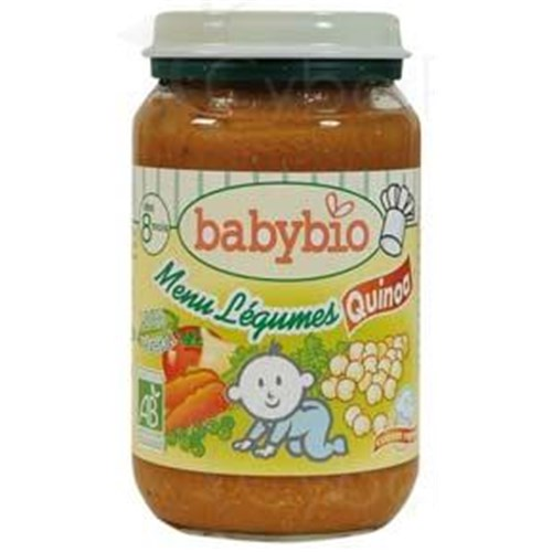 BABYBIO SMALL POTS VEGETABLES, Potty vegetable menu - quinoa. - 200 g pot