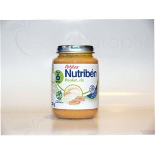 Nutriben POTITOS VEGETABLES MEAT Potty chicken rice. - 200 g pot