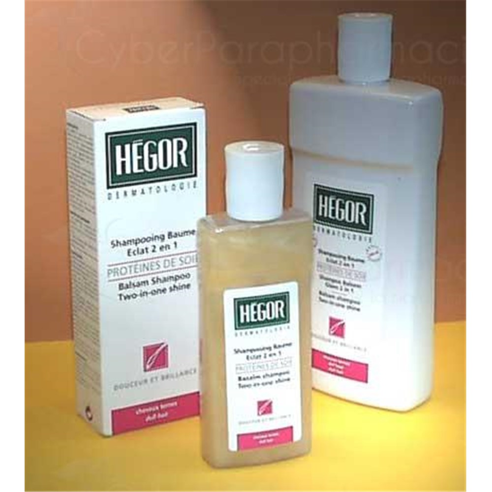 Hegor Silk Protein Balm And Shampoo 2 In 1 Care Shine To Natural Silk Proteins 500 Ml Fl