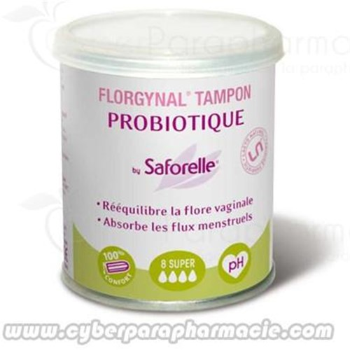 FLORGYNAL BY SAFORELLE 8 Tampons probiotiques supers