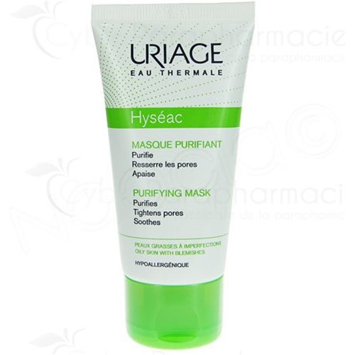 URIAGE HYSEAC MASQUE PURIFIANT Peaux Grasse à Imperfections 50ml