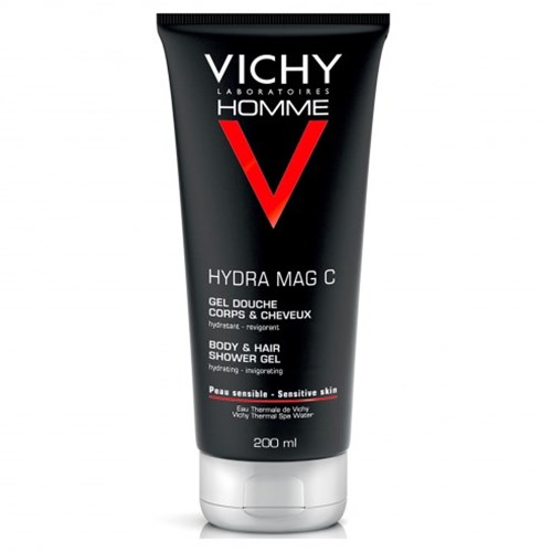 HYDRA MAG-C ENERGIZING MOISTURIZING HAIR & BODY SHOWER GEL 200ML MEN VICHY