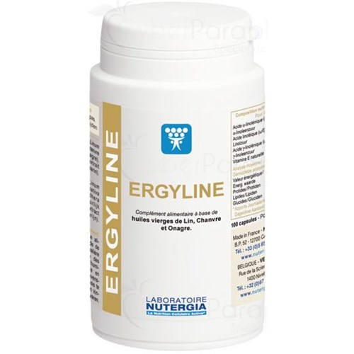 ERGYLINE, Capsule dietary supplement essential fatty acids. - Pillbox 100