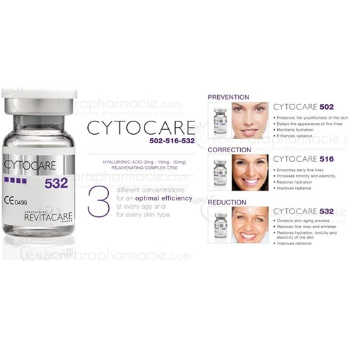 CYTOCARE 532 Acide hyaluronique (5x5ml) LOT DE 5 BOÎTES