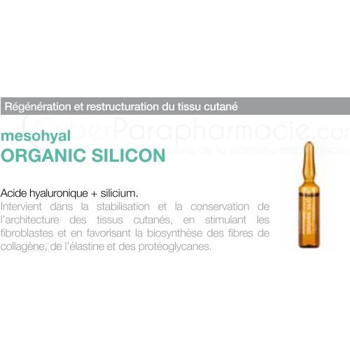 MESOHYAL ORGANIC SILICON (20x5ml) 5 BOXES
