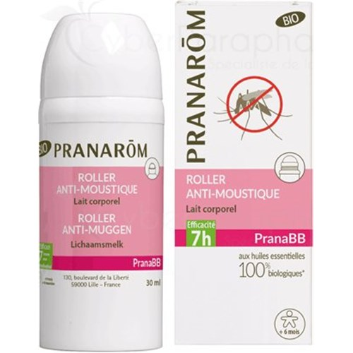 PranaBB, anti-mosquito roller from 6 months, body milk, 30ml
