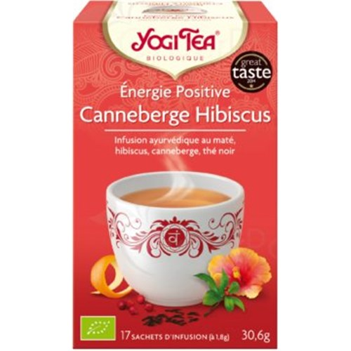 YOGI TEA, Cranberry Hibiscus, box of 17 sachet