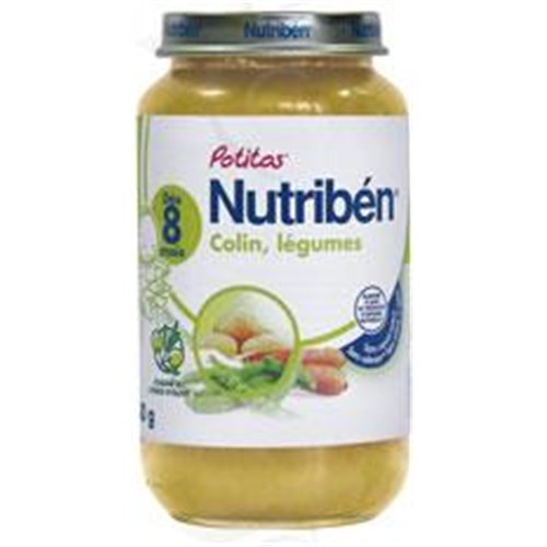 Nutriben POTITOS VEGETABLE FISH Potty vegetables - colin. - 250 g pot