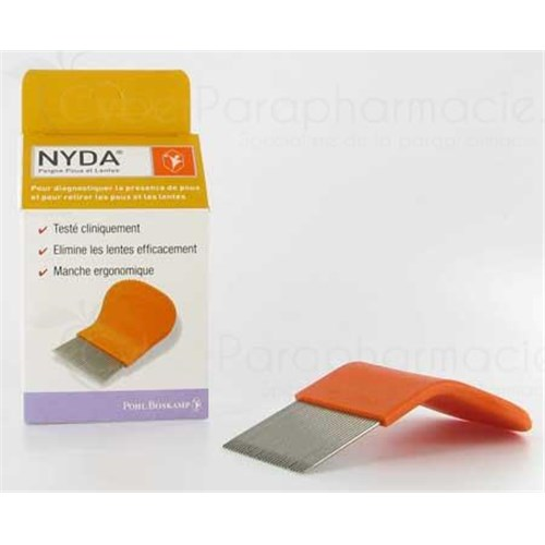 NYDA COMB, thin plastic comb for lice and nits. - Unit