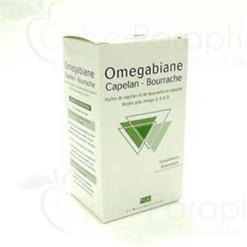 OMEGABIANE CAPELAN BORAGE, Capsule, nutritional supplement to capelin oil and borage base. - Bt 100