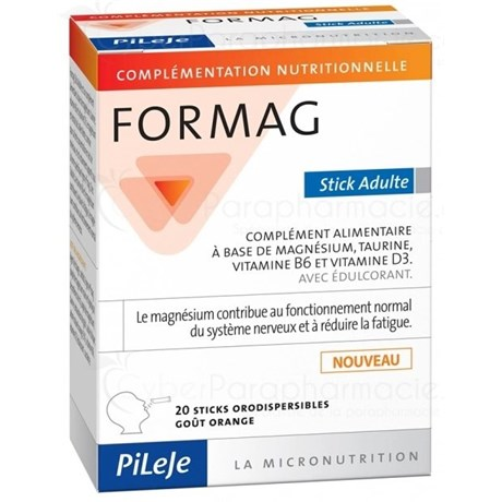 FORMAG ADULTE 20 Sticks Orodispersible goût Or