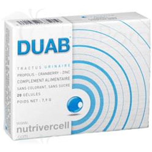DUAB URINARY TRACT Capsule dietary supplement rich in polyphenols urinary referred. - Bt 20