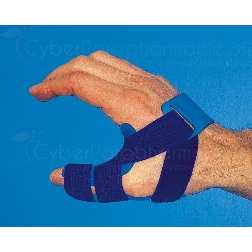 SOBER THUMB SPLINT, rigid thermoplastic thumb splint for adult doctor Berrehail left, size 2 (ref. APB-PLAST2) - unit